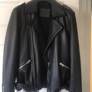 All Saints Leather Moro Jacket